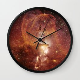 Star Clusters Space Exploration Wall Clock