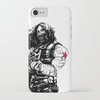 winter soldier iPhone & iPod Cases featuring Winter Soldier by Irene Flores