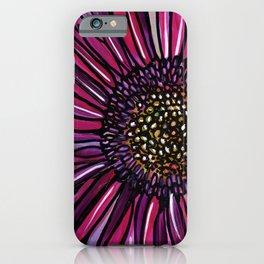 Magenta Gerbera Daisy iPhone Case