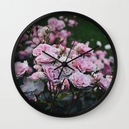 Rose Garden at Dusk Wall Clock