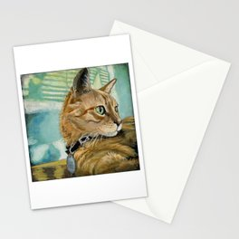 Orange Tabby Cat Resting Stationery Cards