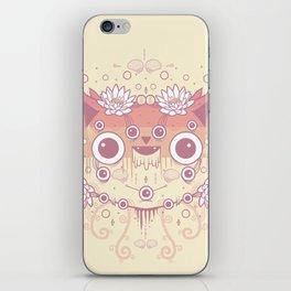 Cat flowers iPhone Skin
