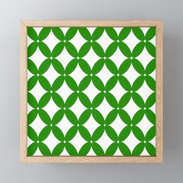 Abstract pattern - green and white. Framed Mini Art Print