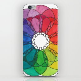 """Scarlett"" Watercolor Rainbow Mandala iPhone Skin"