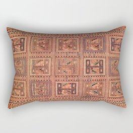 Zili South Caucasus Azerbaijan Antique Flatweave Rug Rectangular Pillow
