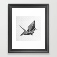 Origami Crane Framed Art Print