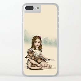 Girl with deer Clear iPhone Case