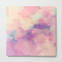 Blush Rose Pink Abstract Texture - Feminine Girly Art - Gentle Artistic Painting - Warm Sunshine Metal Print