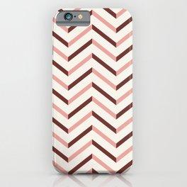 Chevron pink 3 iPhone Case