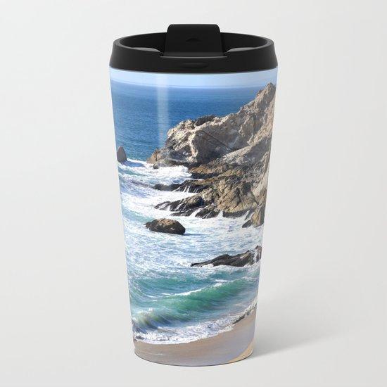 CALIFORNIA COAST - BLUE OCEAN Metal Travel Mug