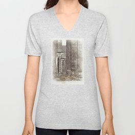 NYC Yellow Cabs NYPD - SKETCH Unisex V-Neck