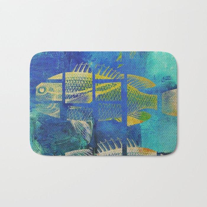 Fish Under Strong Radiation 4 Bath Mat