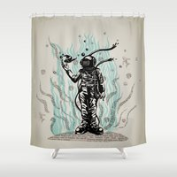 diver Shower Curtains featuring DIVER by taniavisual