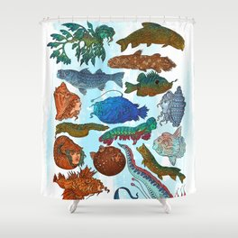 Reverse Mermaids 2021 Shower Curtain