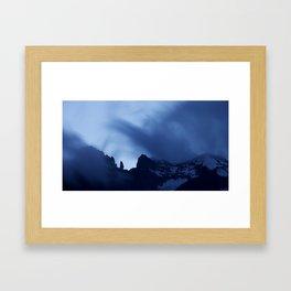 Mont Blanc Massif at night Framed Art Print