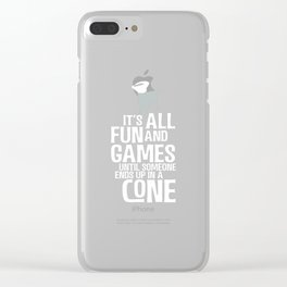 It's All Fun and Games Funny Gift For Dog Lovers Clear iPhone Case