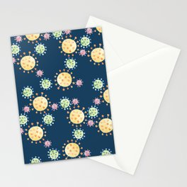 Watercolor Viruses Stationery Cards