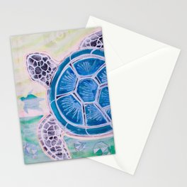Sea Turtle Geodes Stationery Cards
