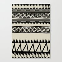 zebra Canvas Prints featuring MALOU ZEBRA by Aztec