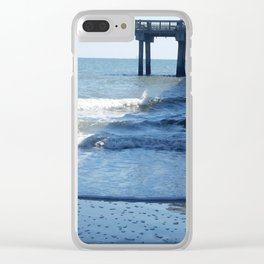 Under the pier at Tybee Island Clear iPhone Case