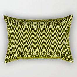 Chevrons #6 Yellow and Black Rectangular Pillow