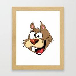 Krazy Squirrel  Framed Art Print
