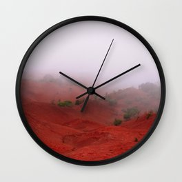 Red Land Wall Clock