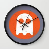 video game Wall Clocks featuring Video game - Retro Vintage Fashion by totemxtotem