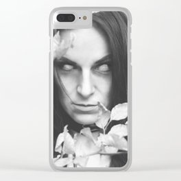 beware of the woods Clear iPhone Case