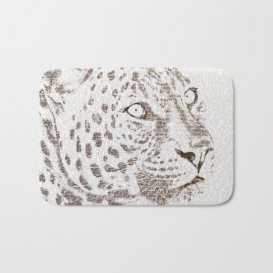The Intellectual Leopard Bath Mat