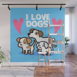 I Love Dogs Wall Mural