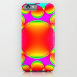 Psychedelic circles abstract patterns art decor iPhone Case
