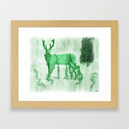 Wild Deer Framed Art Print
