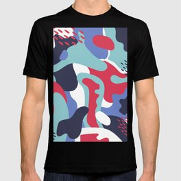 Camo Art Abstract Design T-shirt