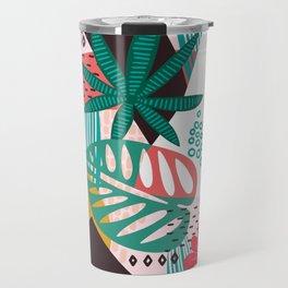 Matisse Inspired Pop Art Tropical Fun Jungle Pattern Travel Mug