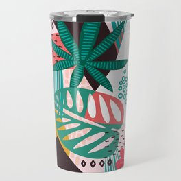 Matisse Inspired Pop Art Tropical Fun Jungle Pattern Travel Mug