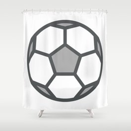 Soccerball Icon Shower Curtain