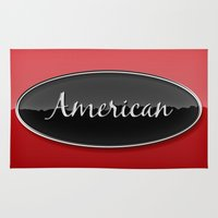 american Area & Throw Rugs featuring American by politics