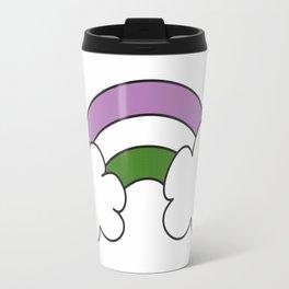 "Genderqueer GQ Flag ""Rainbow"" Travel Mug"