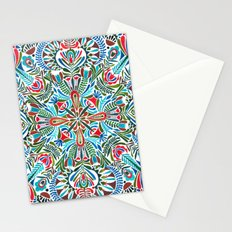 The middle of the Earth mandala Stationery Cards