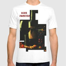 Still Life With Wine Mens Fitted Tee MEDIUM White