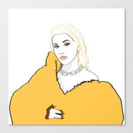 CHRISTINA AGUILERA LIBERATION Yellow Fur Jacket Canvas Print