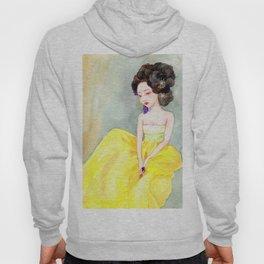 Watercolor Korean beauty - Yellow Hoody