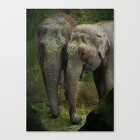 elephants Canvas Prints featuring Elephants  by Guna Andersone & Mario Raats - G&M Studi