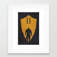 dark souls Framed Art Prints featuring Dark Souls 2 by FelixT