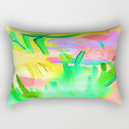 Flowers Sparkle  Rectangular Pillow
