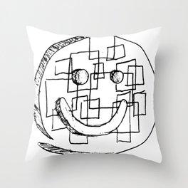 Abstract Smiley Face Throw Pillow