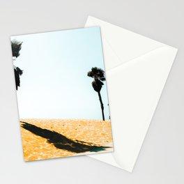 summer sandy beach and palm tree at Oxnard Beach, California, USA Stationery Cards