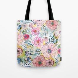 Watercolor hand paint floral design Tote Bag