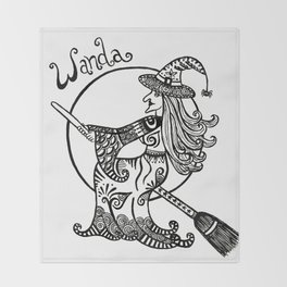 Wanda the witch Throw Blanket